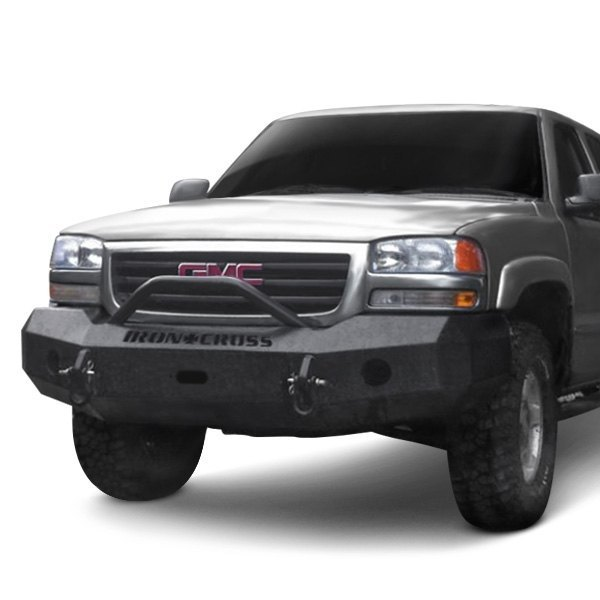 Iron Cross® - GMC Sierra 2003 Heavy Duty Series Full Width Front Winch HD Bumper with Push Bar