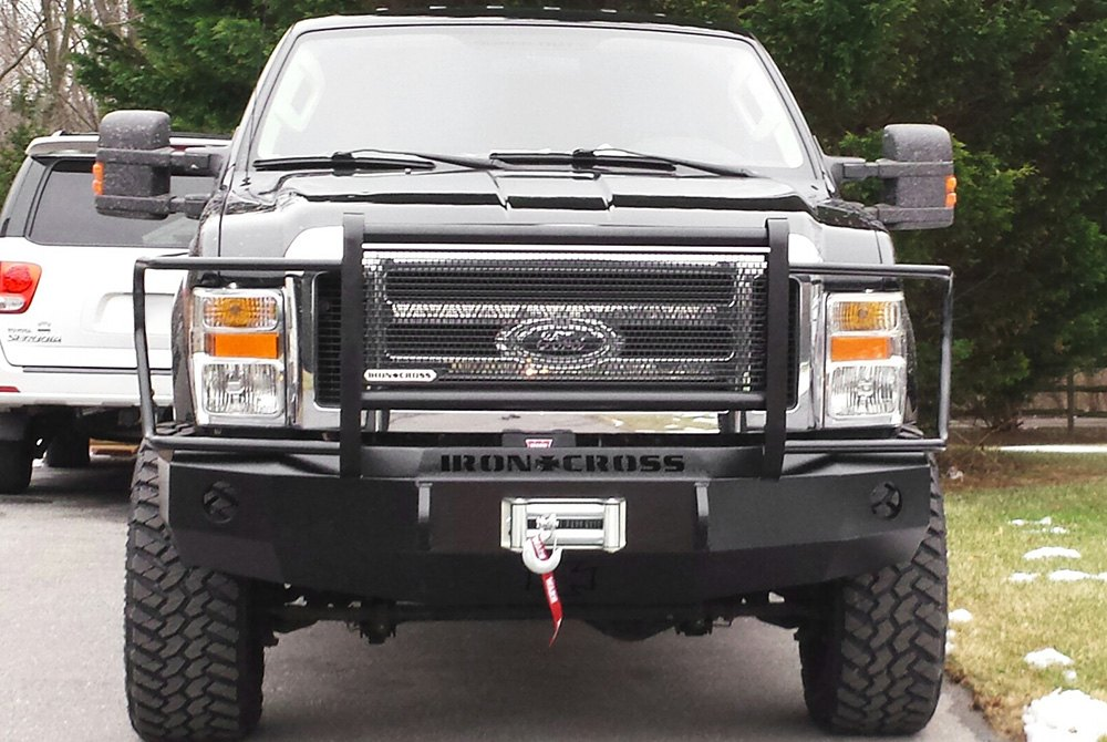Heavy Front Bumper : Iron cross ford f heavy duty series full width