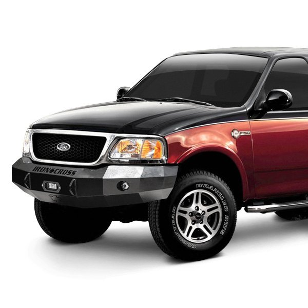 Off Road Bumpers F150 >> Iron Cross® - Ford F-150 2001-2003 Heavy Duty Series Full Width Black Front Winch HD Bumper