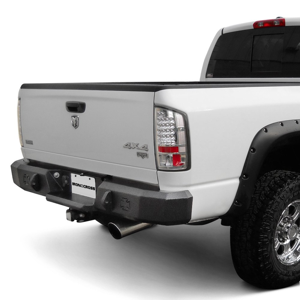 Iron Cross® - Dodge Ram 2006-2008 Heavy Duty Series Full Width Black Rear HD Bumper