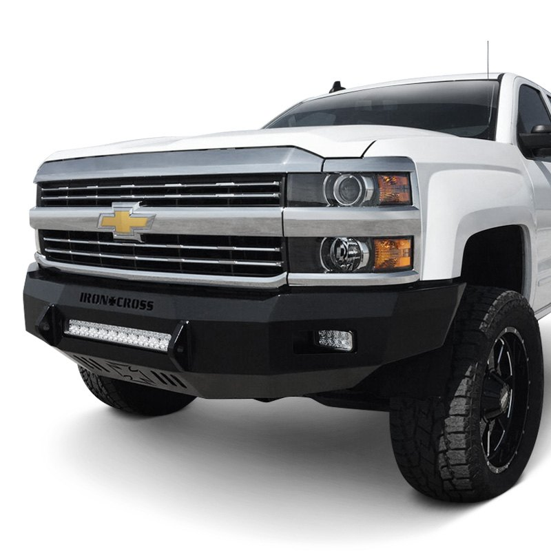 iron cross chevy silverado 2016 heavy duty low profile full width black front hd bumper. Black Bedroom Furniture Sets. Home Design Ideas