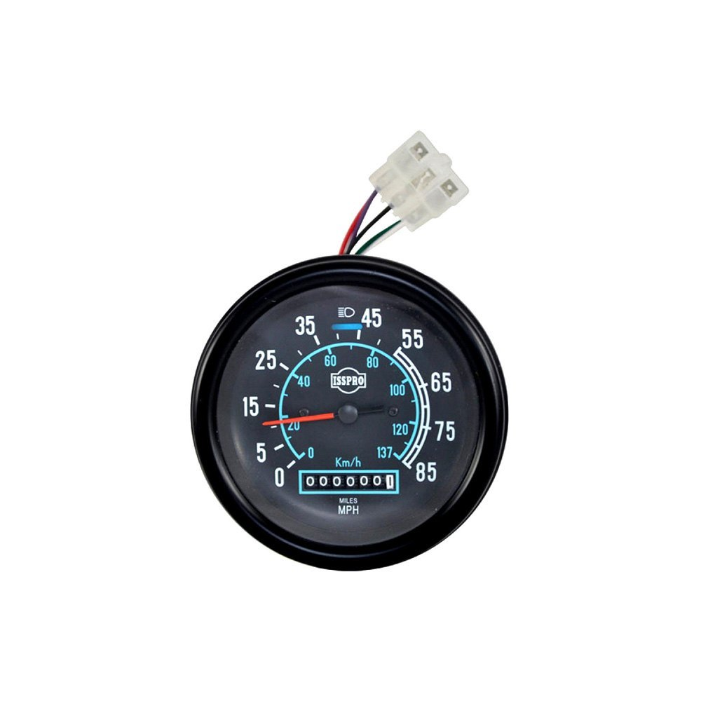 isspro r8416m classic 4 5 8 black speedometer gauge 85 mph 140 kph. Black Bedroom Furniture Sets. Home Design Ideas