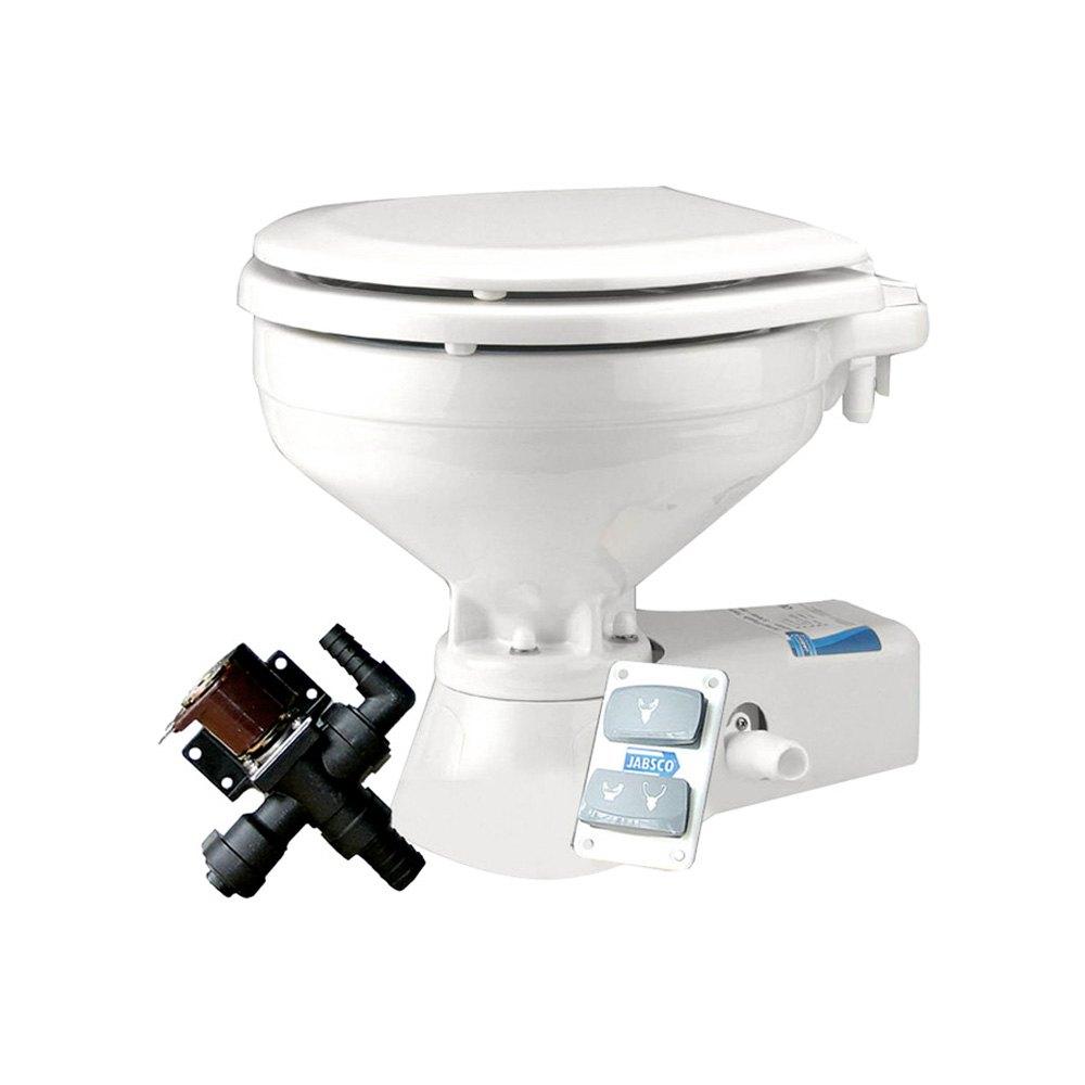 jabsco 37045 1092 marine 12v quiet flush household freshwater toilet. Black Bedroom Furniture Sets. Home Design Ideas
