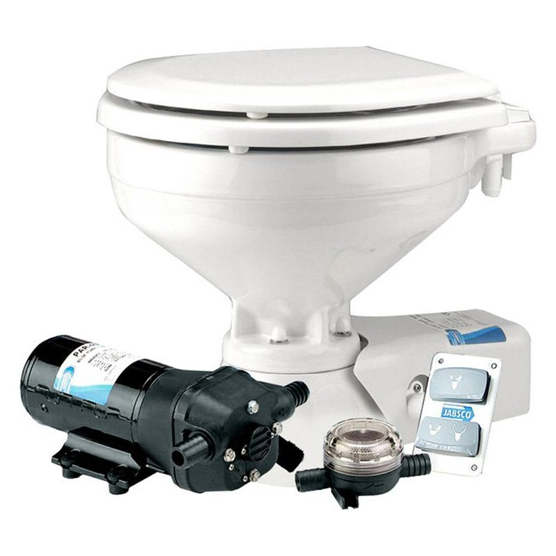 Jabsco 174 37245 0092 Compact Electric Toilet With Raw