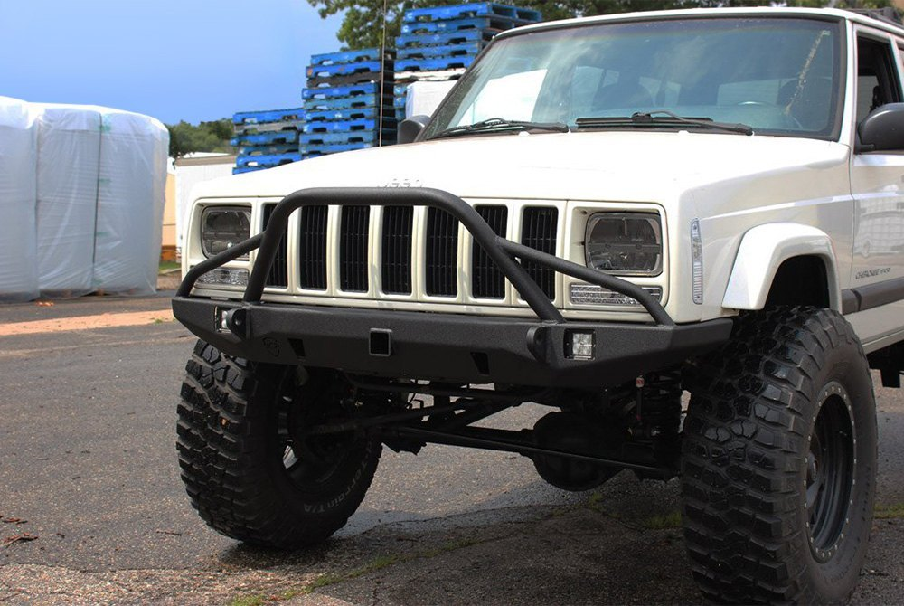 jcroffroad jeep cherokee 1999 defender full width front hd bumper. Cars Review. Best American Auto & Cars Review