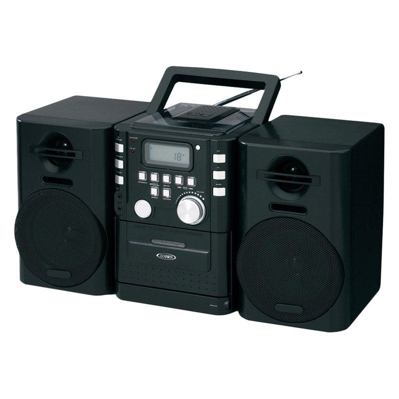 jensen cd 725 portable cd music system with cassette and fm stereo radio. Black Bedroom Furniture Sets. Home Design Ideas