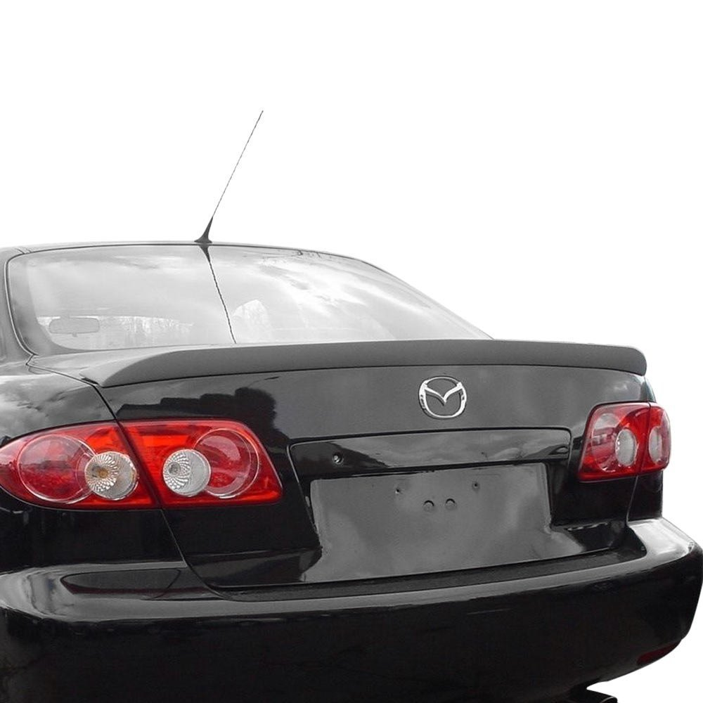 jks mazda 6 2003 2005 custom style rear lip spoiler. Black Bedroom Furniture Sets. Home Design Ideas