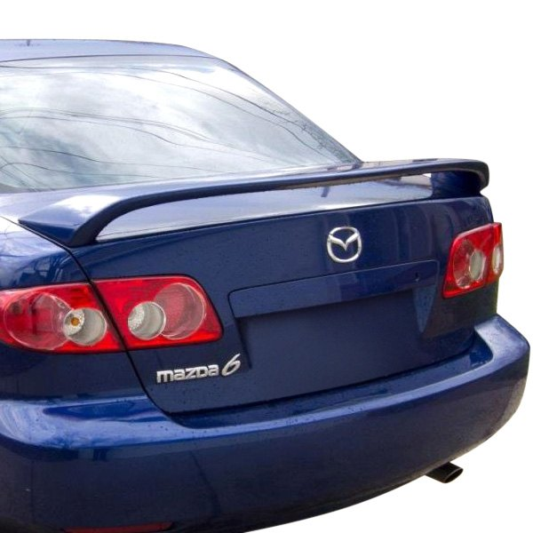 2008 Mazda6 4 Door Oem Style Spoiler: Mazda 6 2003-2008 Factory Style Fiberglass Rear Spoiler With Light