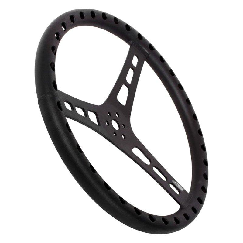 Joes Racing 13513 B 3 Spoke Racing Dished Steering Wheel