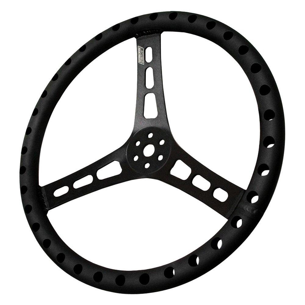 JOES Racing® 13514-B - 3-Spoke Racing Dished Steering Wheel