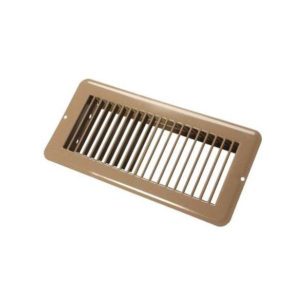 Jr products 02 28995 4 x 10 brown metal floor for 10 x 4 floor register