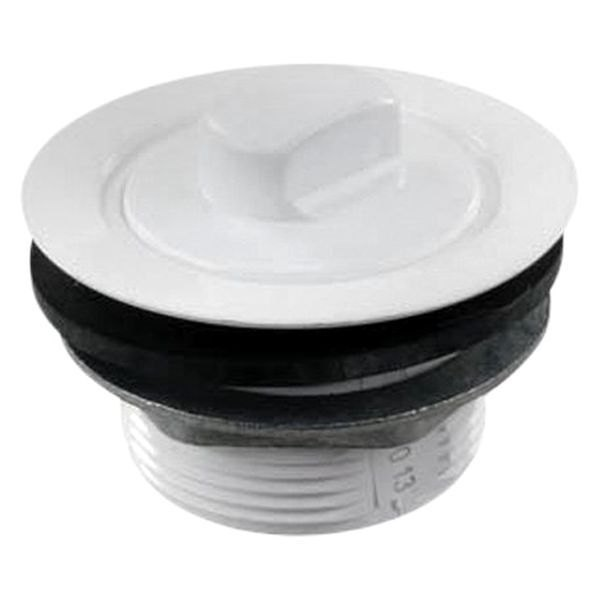 JR Products 184030A Polar White 2 Tub Drain With Stopper