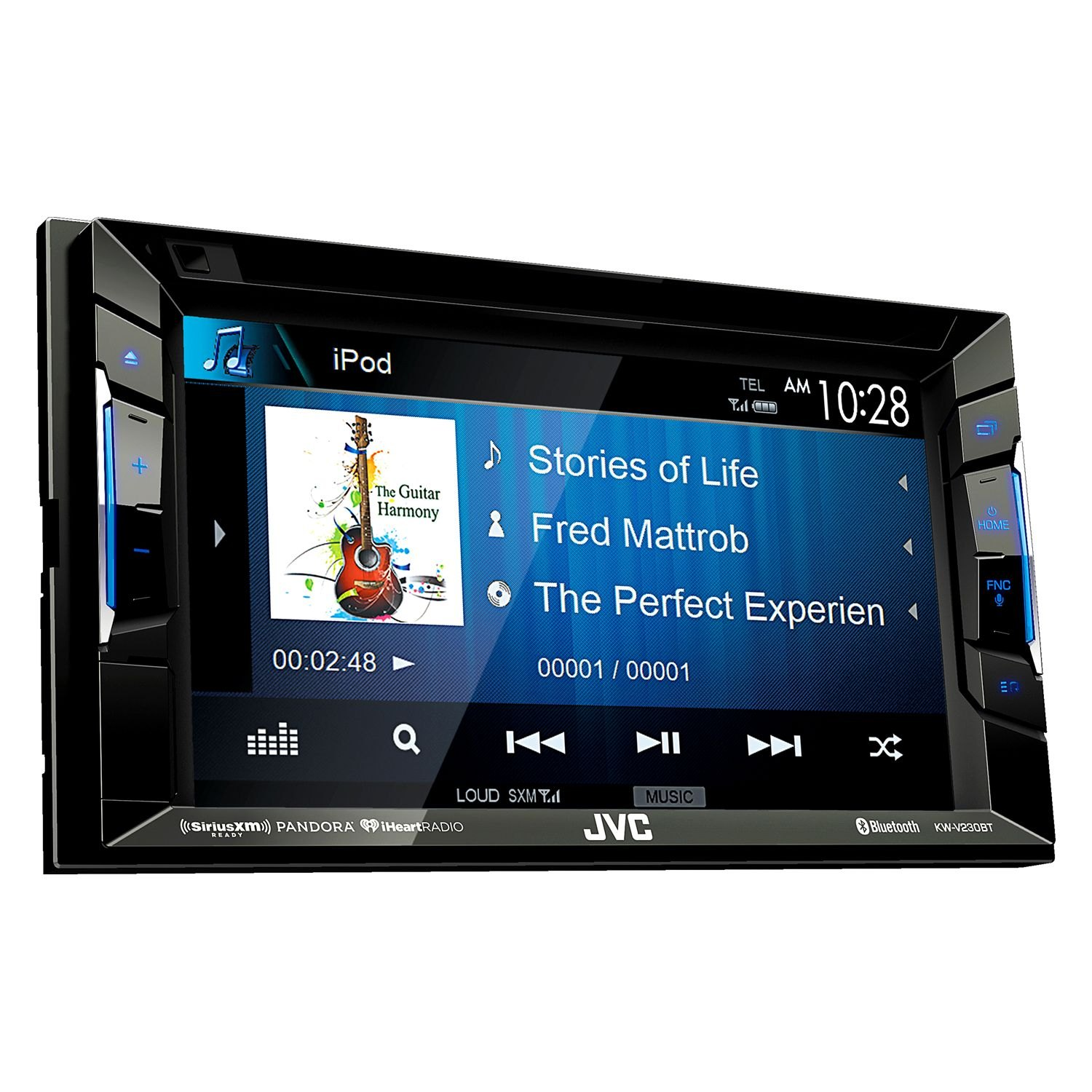 jvc kwv230bt double din dvd cd am fm mp3 wma aac. Black Bedroom Furniture Sets. Home Design Ideas