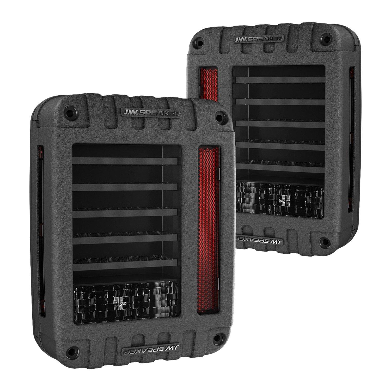 J W Speaker 174 Jeep Wrangler 2014 Black Smoke Fiber Optic