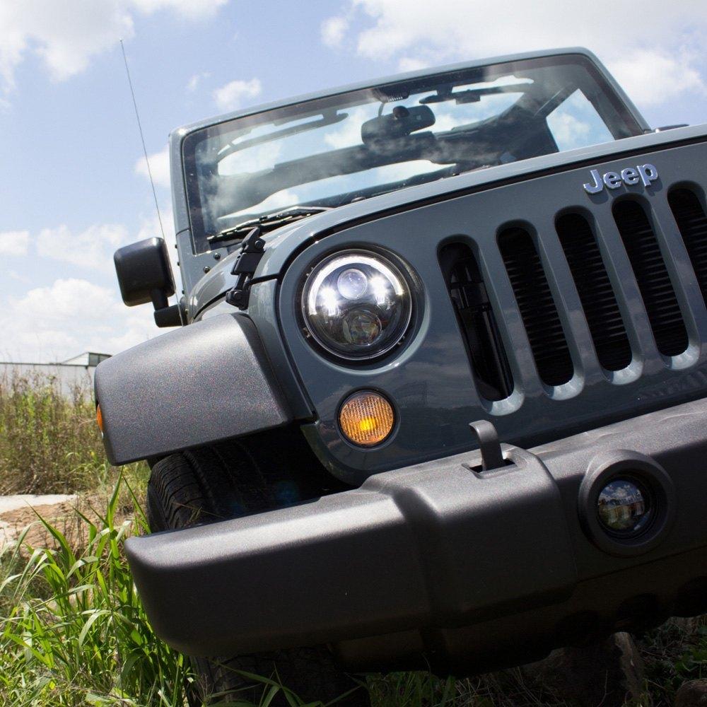 "j.w. speaker® - jeep wrangler 2007-2017 7"" round black 8700"