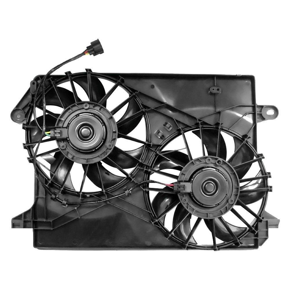 Replacement Motor Cooling Fans : K metal chrysler c radiator fan assembly