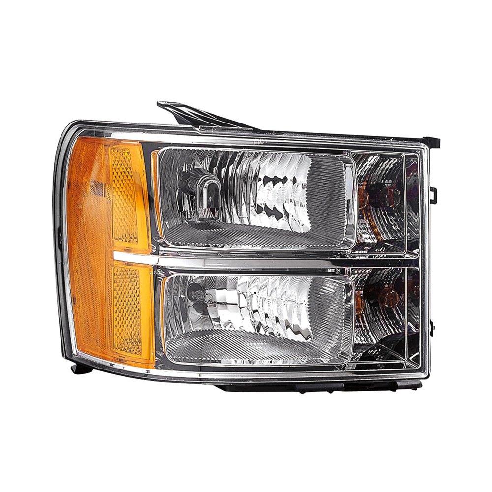 k metal gmc sierra 2500 hd 3500 hd 2014 replacement headlight. Black Bedroom Furniture Sets. Home Design Ideas