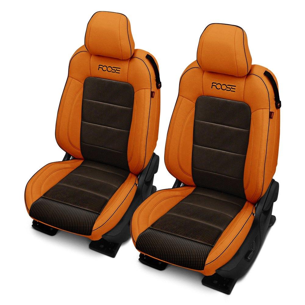 Car interior dye -  Black With Orange Upholstery Interior