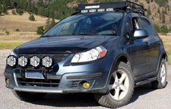 KC HiLiTES Lights on Suzuki SX4