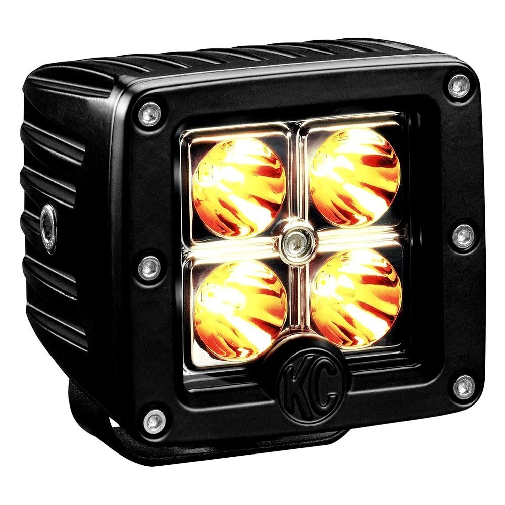 "C-Series 3"" 12W Cube Spot Beam Amber"