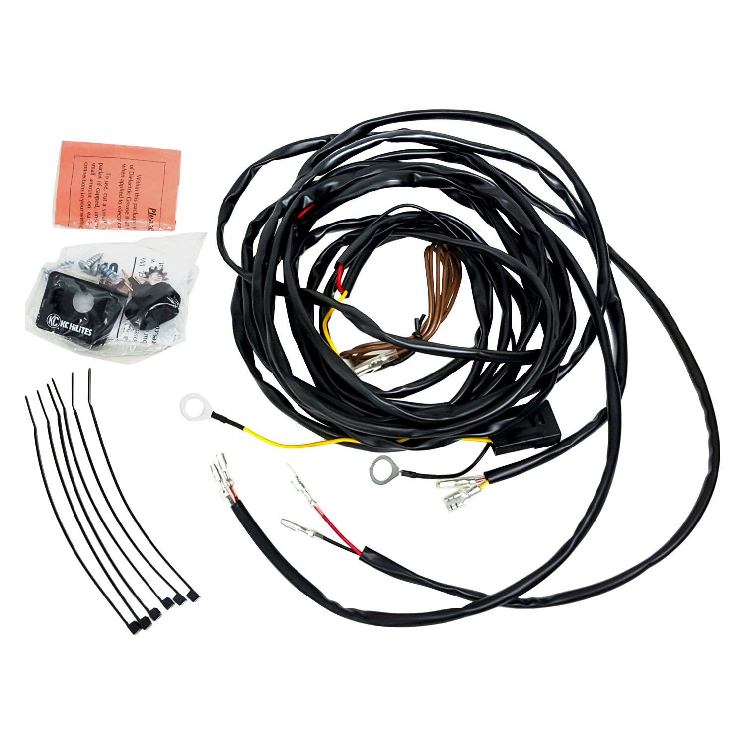 kc hilites® 63082 - wiring harness for two cyclone led lights  carid.com