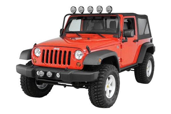 07 12 jeep wrangler custom overhead light bar kc hilites. Black Bedroom Furniture Sets. Home Design Ideas