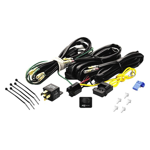 kc hilites wiring harness with 40 amp relay and led