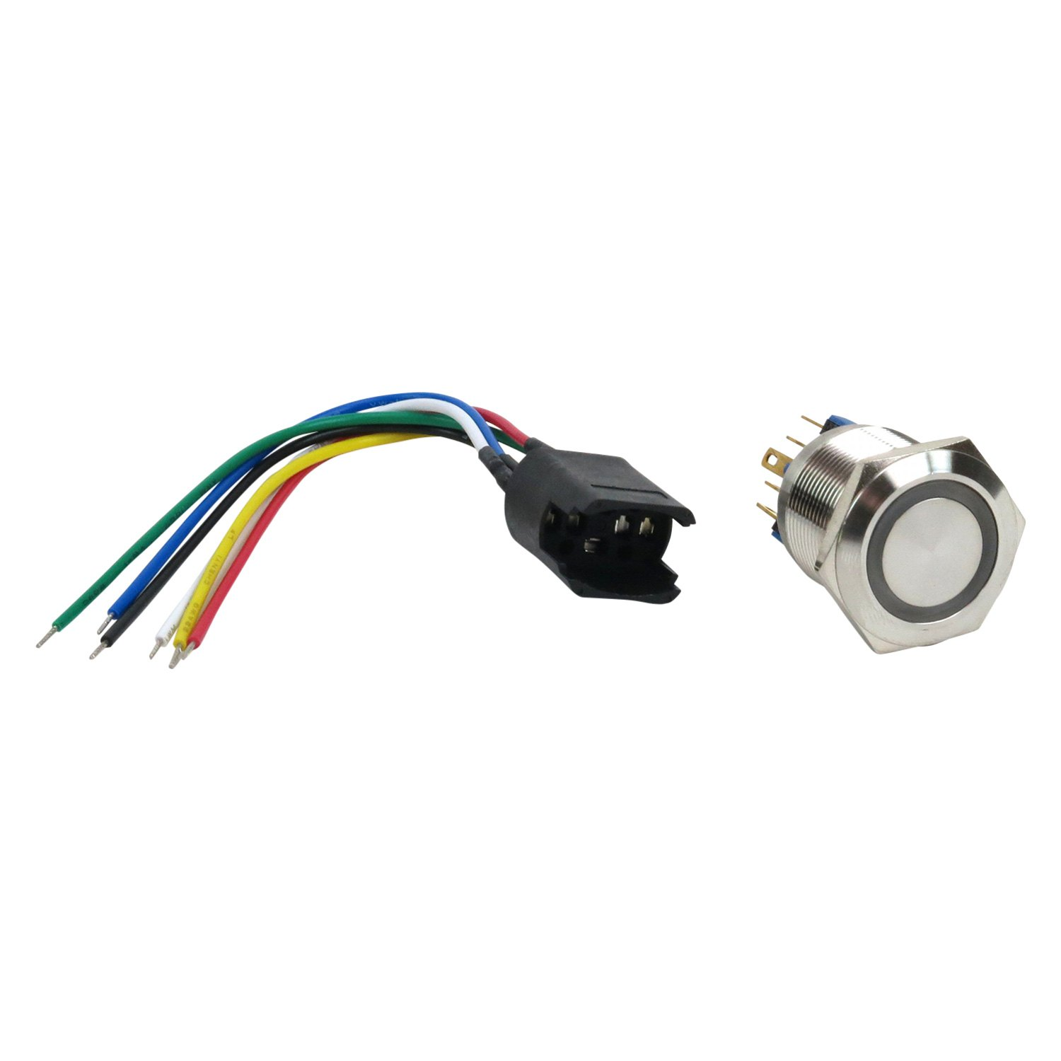 Keep It Clean® KIC76183 - 22 mm Latching Billet White LED Button ...
