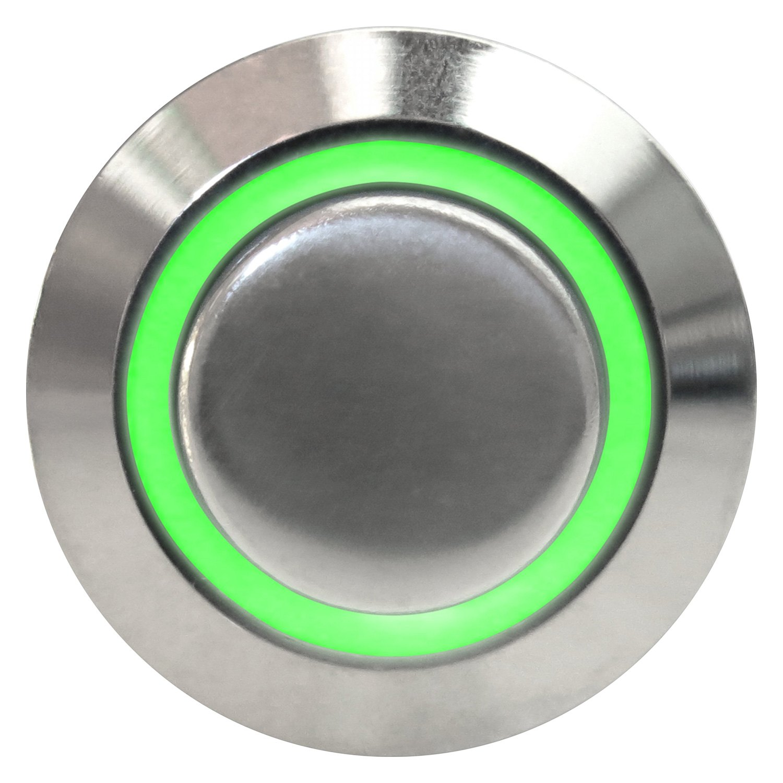 Keep it clean kicswbm16xg 16 mm momentary billet - Green button ...