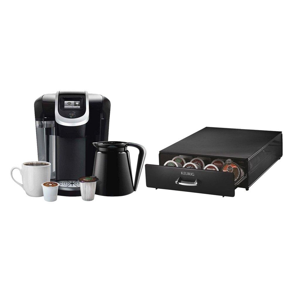 Keurig K350D - Coffee Brewing System & Under Brewer Storage Drawer