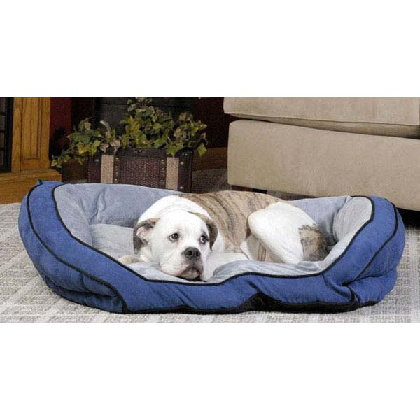 K H Kh7312 21 X 30 X 7 Gray Bolster Couch Pet Bed