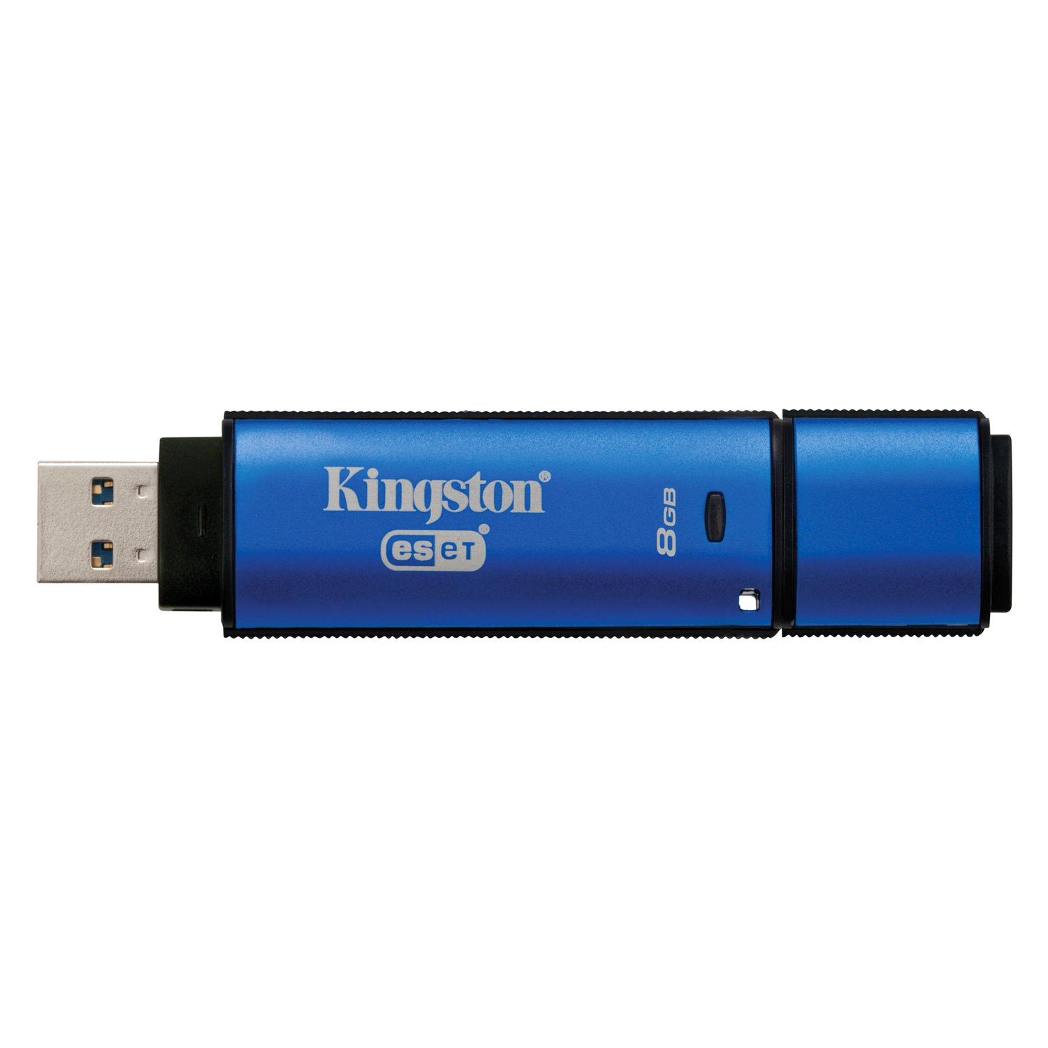 Kingston DataTraveler Vault Privacy 8 GB Blue USB 3 0 Flash Drive with Anti