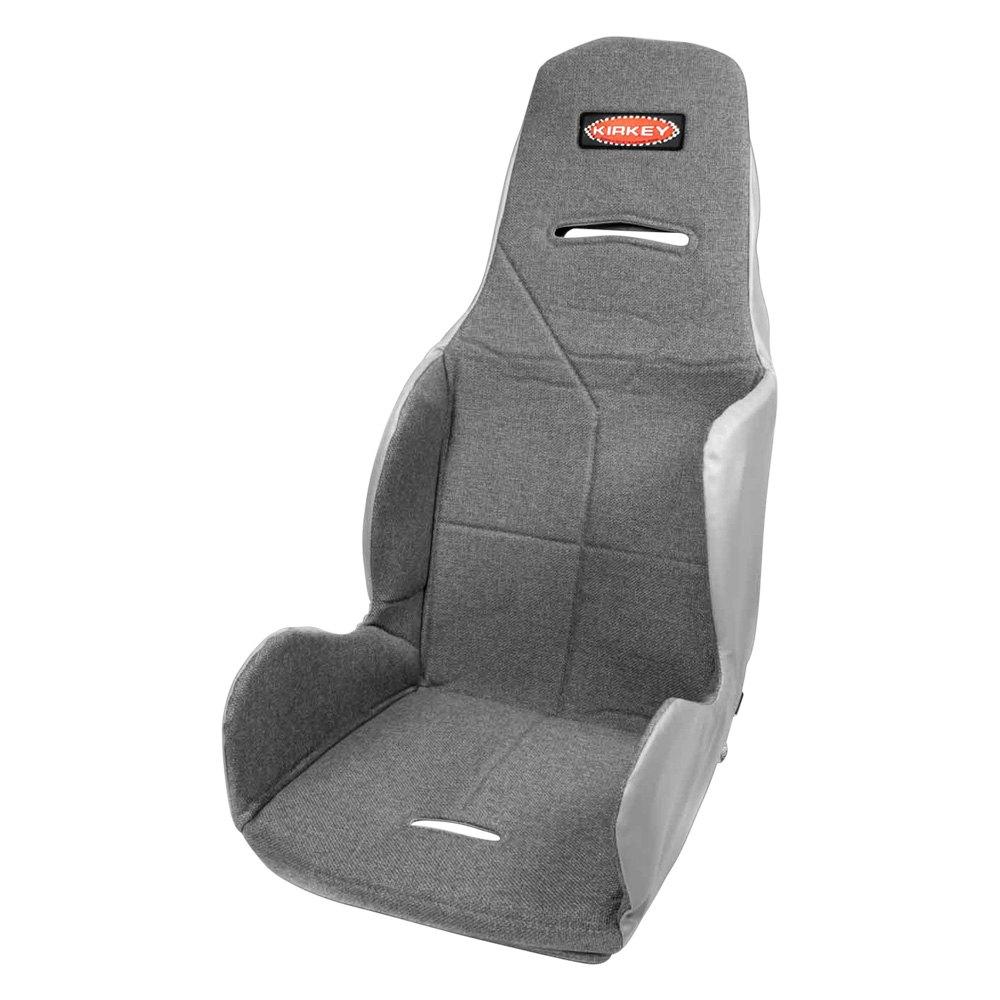 "Semi Truck Seats >> Kirkey® 16817 - 17.5"" 16 Series Economy 20 Degree Layback Drag Racing Seat Cover, Cloth, Gray"