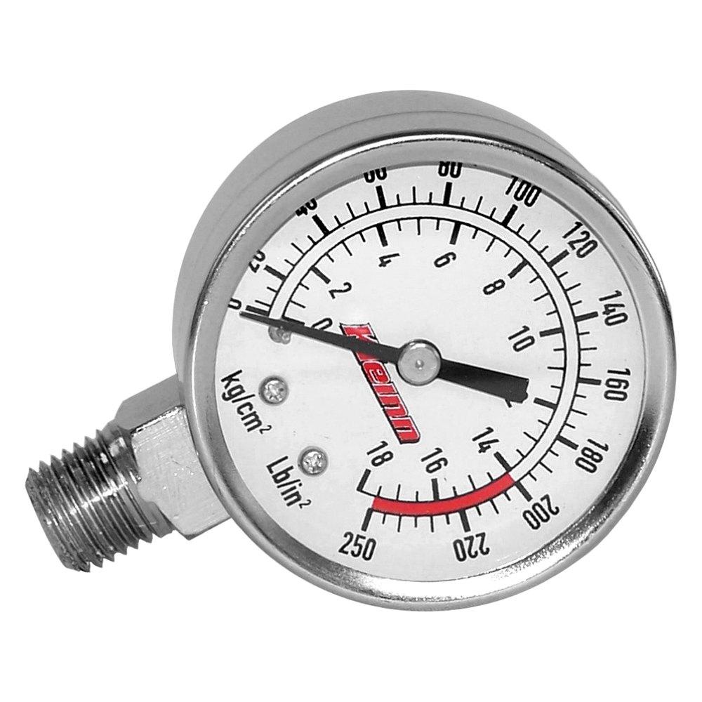 Air Pressure Gauge : Kleinn chrome tank mount air pressure gauge
