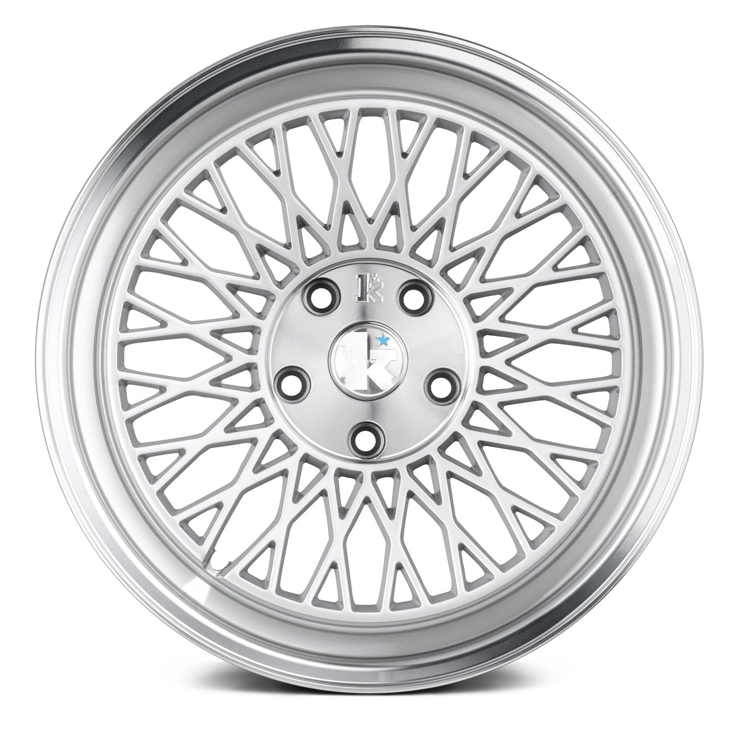Klutch 174 Slc1 Wheels Silver With Machined Center And Lip Rims