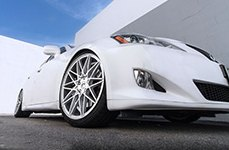 KLUTCH® - KM20 Silver with Machined Face on Lexus IS350