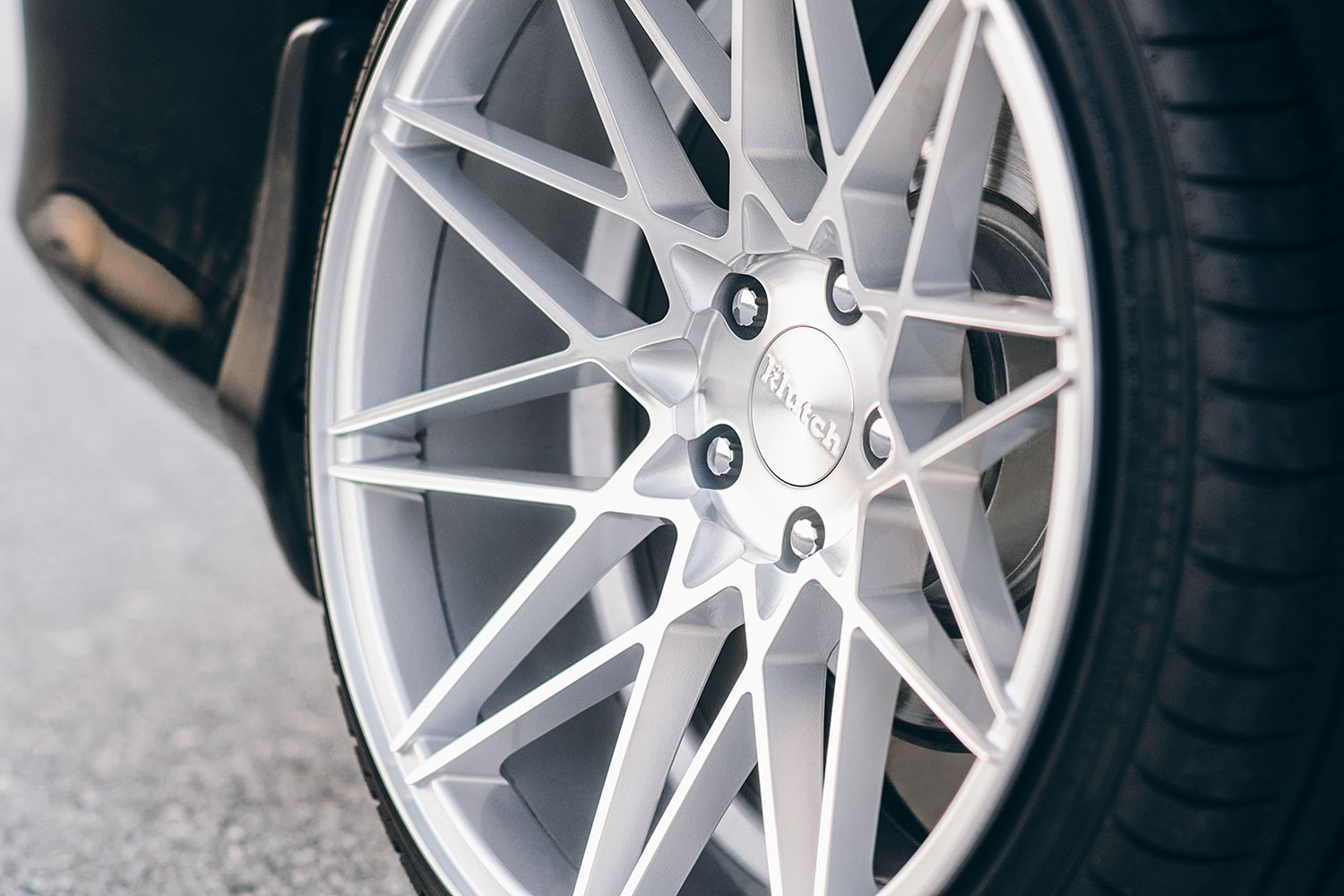 klutch km wheels silver  machined face rims