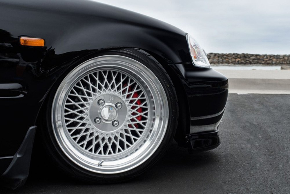 Klutch sl1 wheels silver with machined center and lip rims