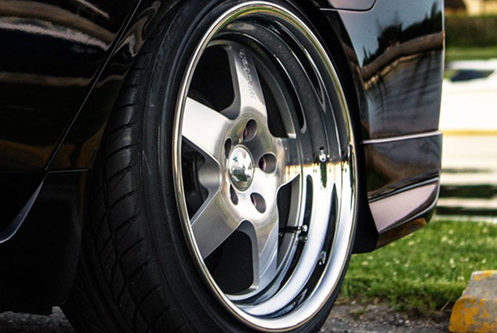 Klutch 174 Sl5 Wheels Silver With Chrome Lip Rims