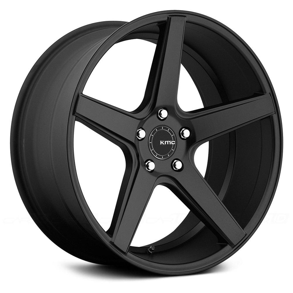 Kmc 174 District Wheels Satin Black Rims