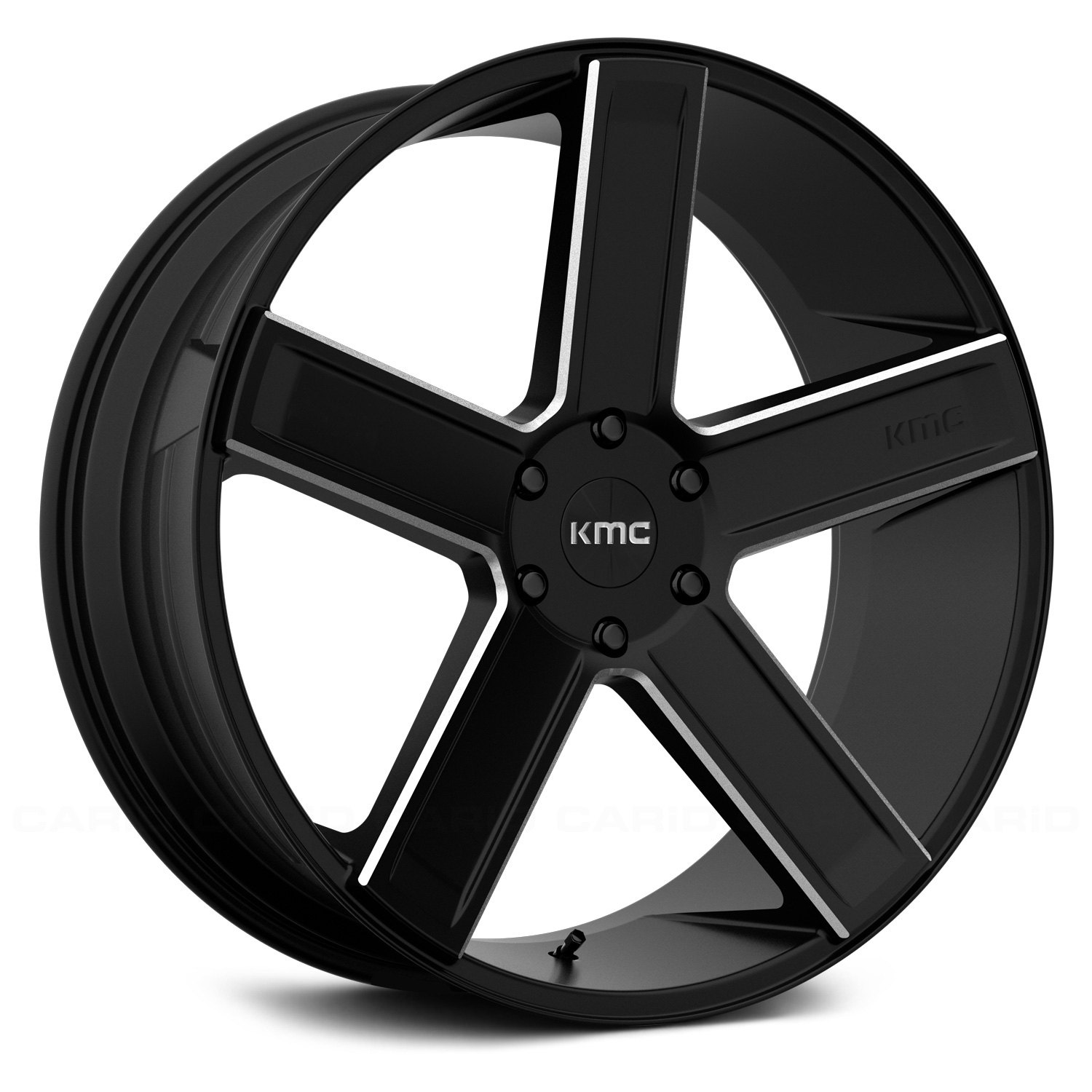 Kmc 174 Km702 Deuce Wheels Satin Black With Milled Accents Rims