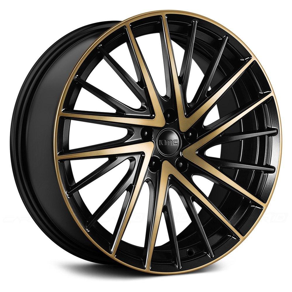 Kmc 174 Km697 Newton Wheels Satin Black With Machined Face