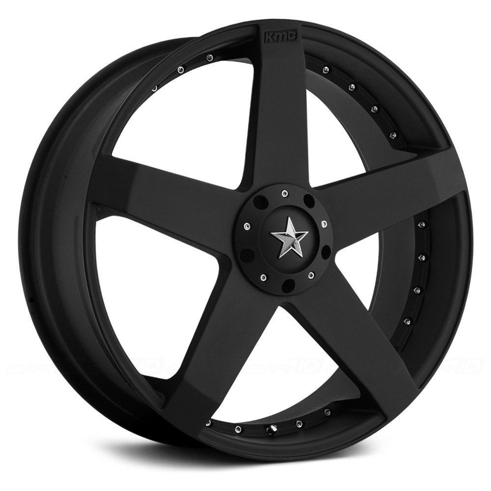 Kmc 174 Rockstar Car Wheels Matte Black Rims