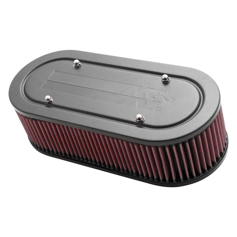 Custom Made Air Cleaners : K n  custom racing oval red air cleaner