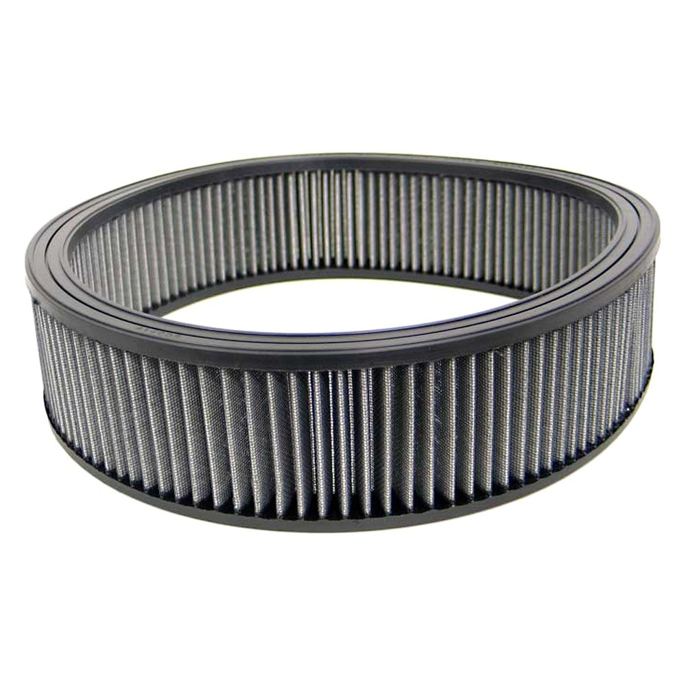 12 Round Air Cleaner : K n e r series round gray air filter without