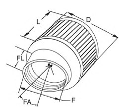 K&N Round Straight Air Filter Dimensions