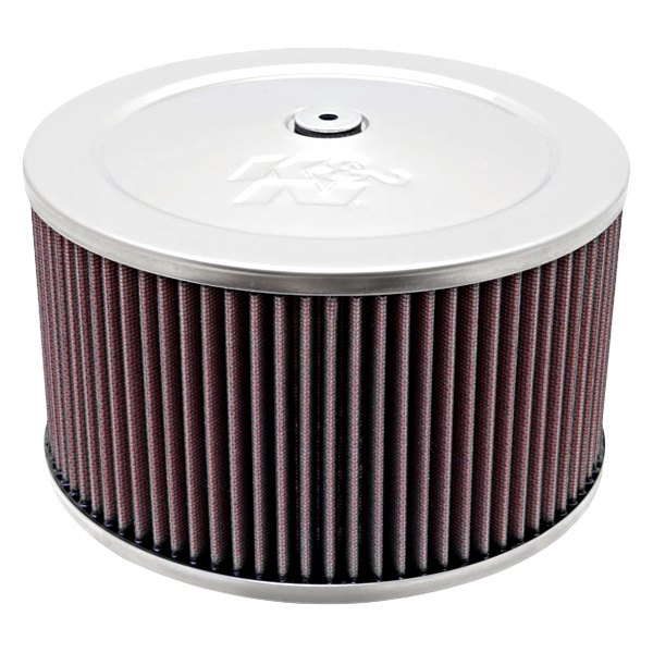 Round Air Cleaners For Tractors : K n custom round red air cleaner assembly