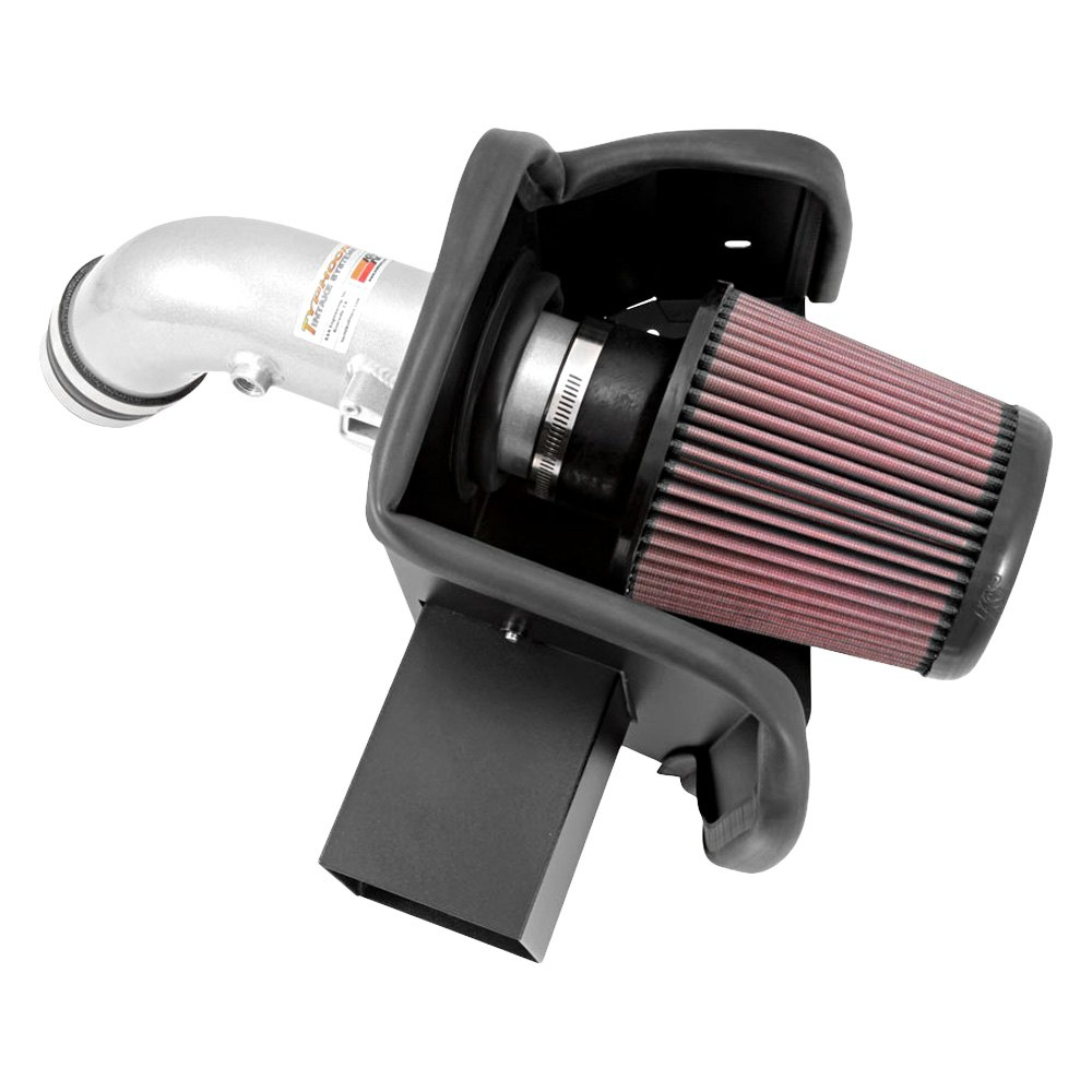 k n 69 7064ts 69 series typhoon aluminum silver cold air intake system with red filter. Black Bedroom Furniture Sets. Home Design Ideas
