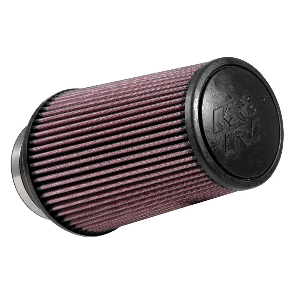 k n re 0870 round tapered red air filter 4 f x 6 b x t x 9 h. Black Bedroom Furniture Sets. Home Design Ideas