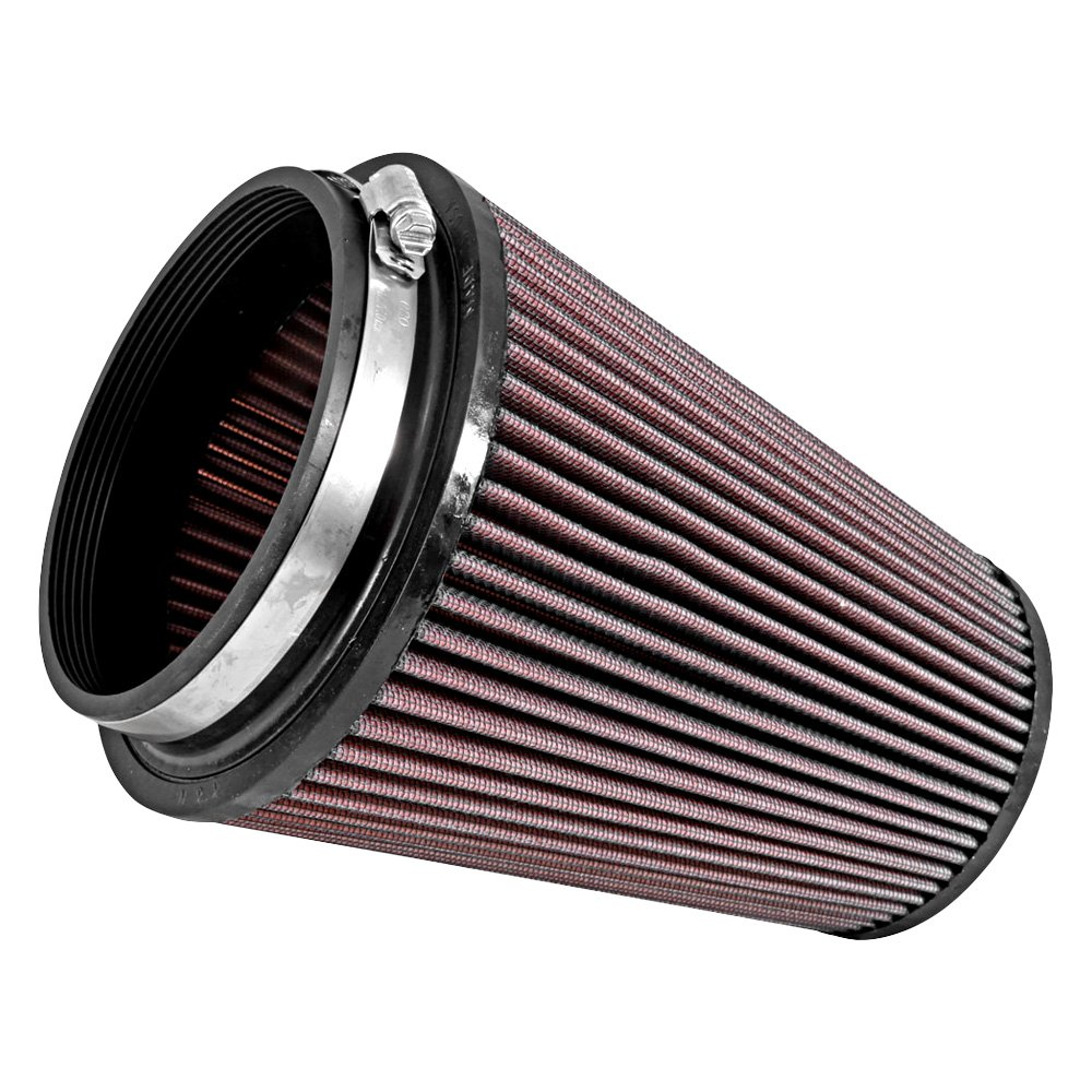 Round Air Compressor Filters : K n ru xd round tapered red air filter quot f
